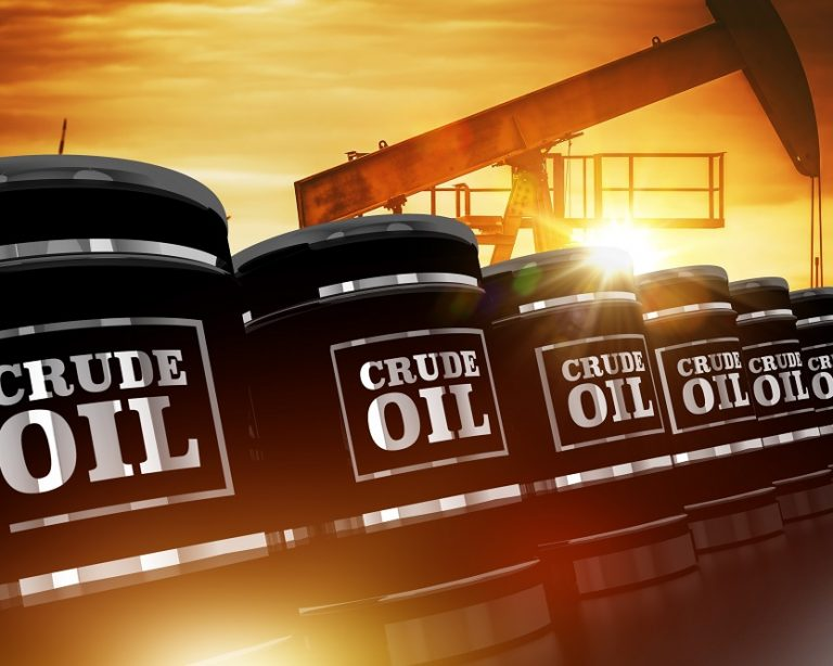 Crude,Oil,Trading,Concept,With,Black,Crude,Oil,Barrels,And